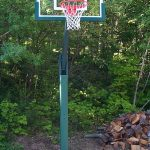 First-Class Adjustable Basketball Standard with Glass Backboard
