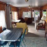 Cabin 5 Dining Room and Living Room